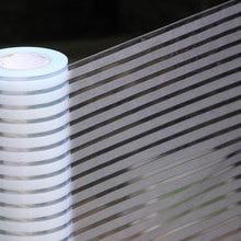 3D stripe Self-adhesive film Window Privacy Protection Glass Vinyl glass sticker Bathroom office Meeting Room Length 100cm
