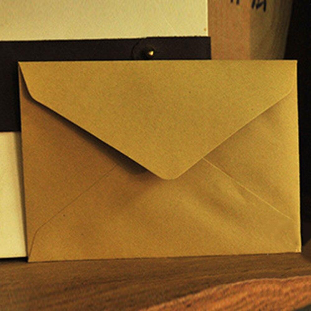 10 шт./лот 114 мм X 162 мм C6 переработанные конверты, открытки, конверты, открытки, цветные поздравительные открытки, классические, 3 цвета - Цвет: 10pcs Triangle Kraft