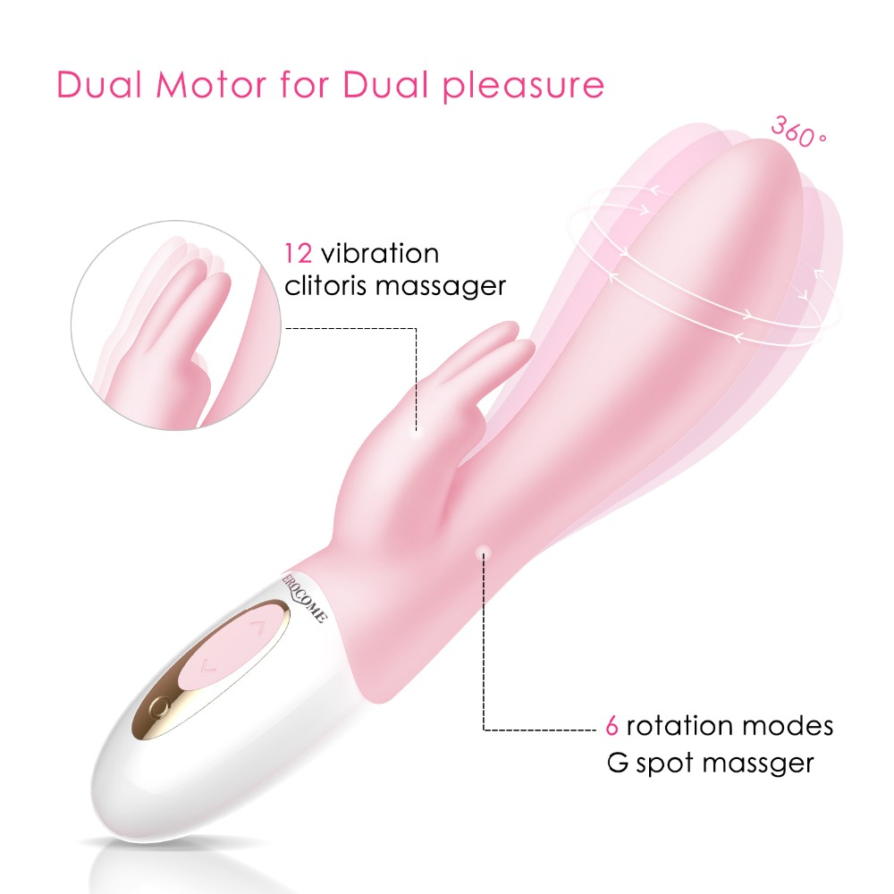 G Spot Dildo Rabbit Vibrator for Women Dual Vibration Silicone Waterproof Female Vagina Clitoris Massager Sex Toys For Women