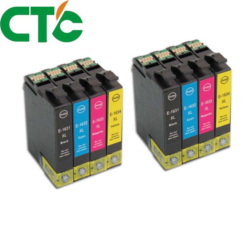 8 PCS 16XL T1631 1632 ink cartridge for INK WorkForce WF-2010W WF-2510WF WF-2520NF WF-2530DW WF-2540WF WF-2750DWF 2760DWF