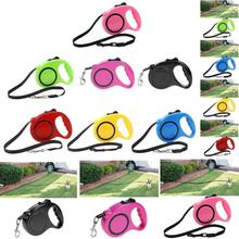 Retractable Dog Leashes Automatic Extending Nylon Walking Dog Lead Leash for Small Medium Dogs Accessories 3M 5M Pet Products