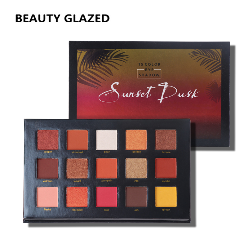 professional brand matte nude eye shadow palette waterproof shimmer glitter 10 color beauty glazed brown eyeshadow cosmetics BEAUTY GLAZED Shimmer Nature Glow Eyeshadow Palette Portable Makeup Cosmetics Nude Eye Shadow powder Waterproof Makeup Set