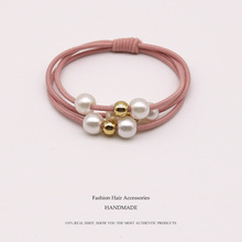 2019 Women Girls Pearl Elastic Hair Bands Ring Headwear Girl Elastic Hair Band Ponytail Holder Scrunchy Rope Hair Accessories цена 2017