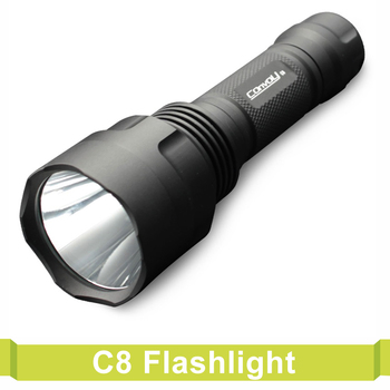 Convoy C8 LED Flashlight Powered By 18650 Battery Torch Lantern Lanterna  Bike Self Defense Camping