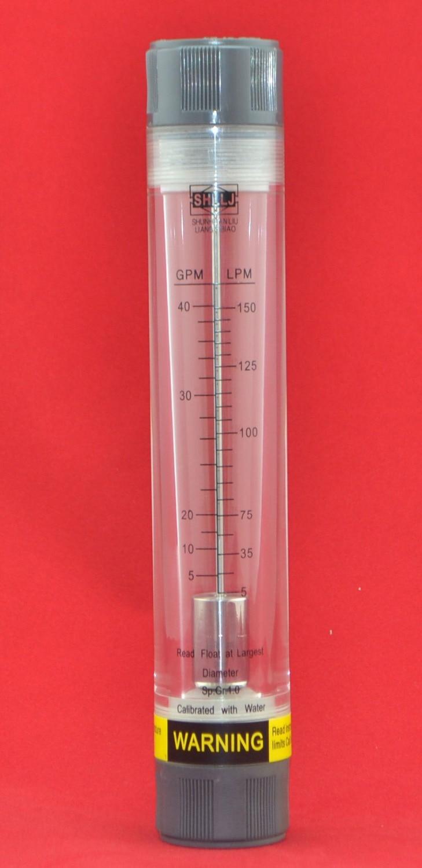 """LZM-25G Tubería agua / aire acrílico rotámetro industy medidor de flujo hembra 1 """"BSP o NPT"""