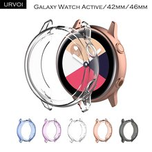 URVOI case for Galaxy watch Active/42mm/46mm TPU protector crystal colors frame slim fit case ultra thin cover anti shock bumper(China)