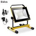 Eslas светодиодный уличный прожектор 20 Вт 30 Вт перезаряжаемый портативный прожектор ручной работы IP65 Водонепроницаемый свет для кемпинга