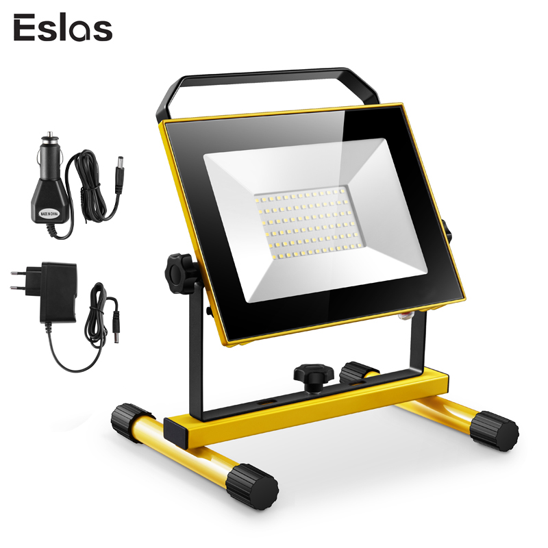 Eslas LED Outdoor Floodlight 20W 30W Rechargeable Portable Spotlight Hand Work Lamp IP65 Waterproof Light for Camping