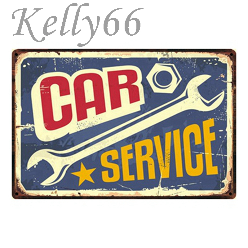 [ Kelly66 ] CAR SERVICE Vintage Metal Sign Tin Poster Home Decor Bar Wall Art Painting 20*30 CM Size y-1252