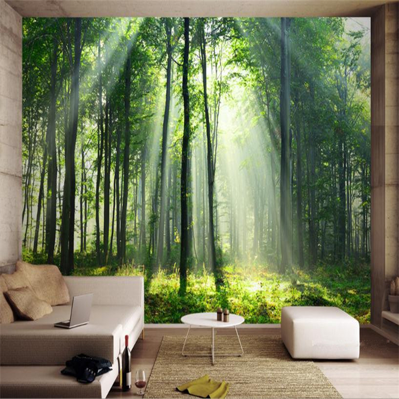 Country Style Wallpaper Custom 3D Large Mural Nature Forest Landscape Walls Papers Wood Photo for Living Room Bedroom Home Decor custom baby wallpaper snow white and the seven dwarfs bedroom for the children s room mural backdrop stereoscopic 3d