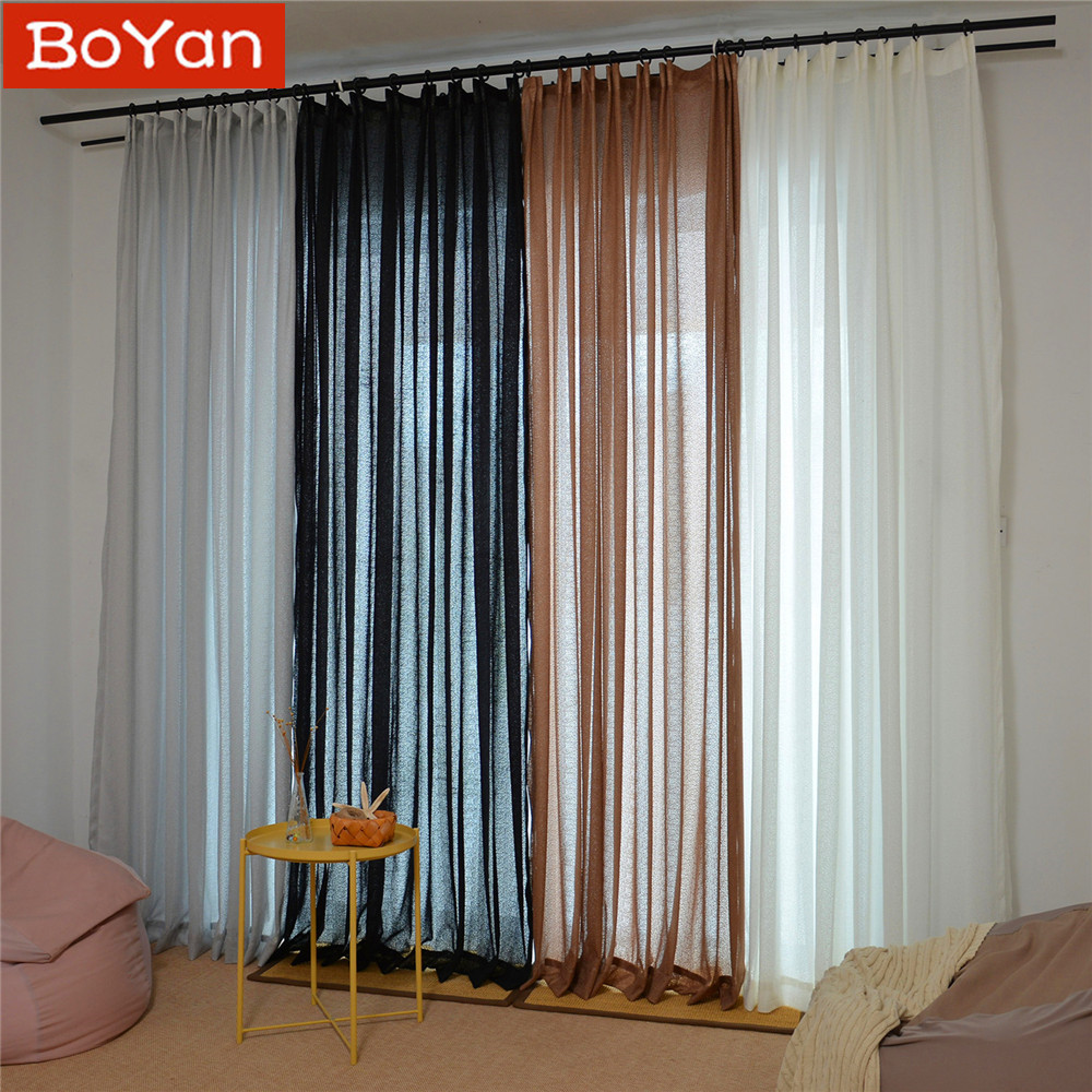 White Bedroom Curtain Ideas Bedroom Colors Ideas For Men Printable Bedroom Wall Art Bedroom With Lighting: Thicken 4 Colors Elegant Solid Black White Tulle Sheer