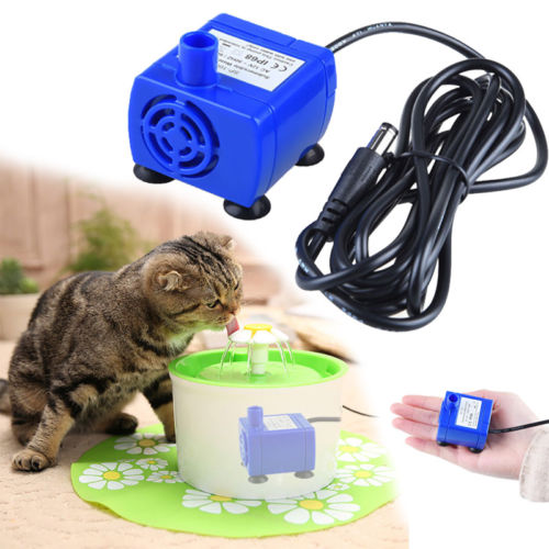 Portable Mini Pet Replacement Water Fountain Pump Submersible Dog And Cat Drinking Fountain Blue