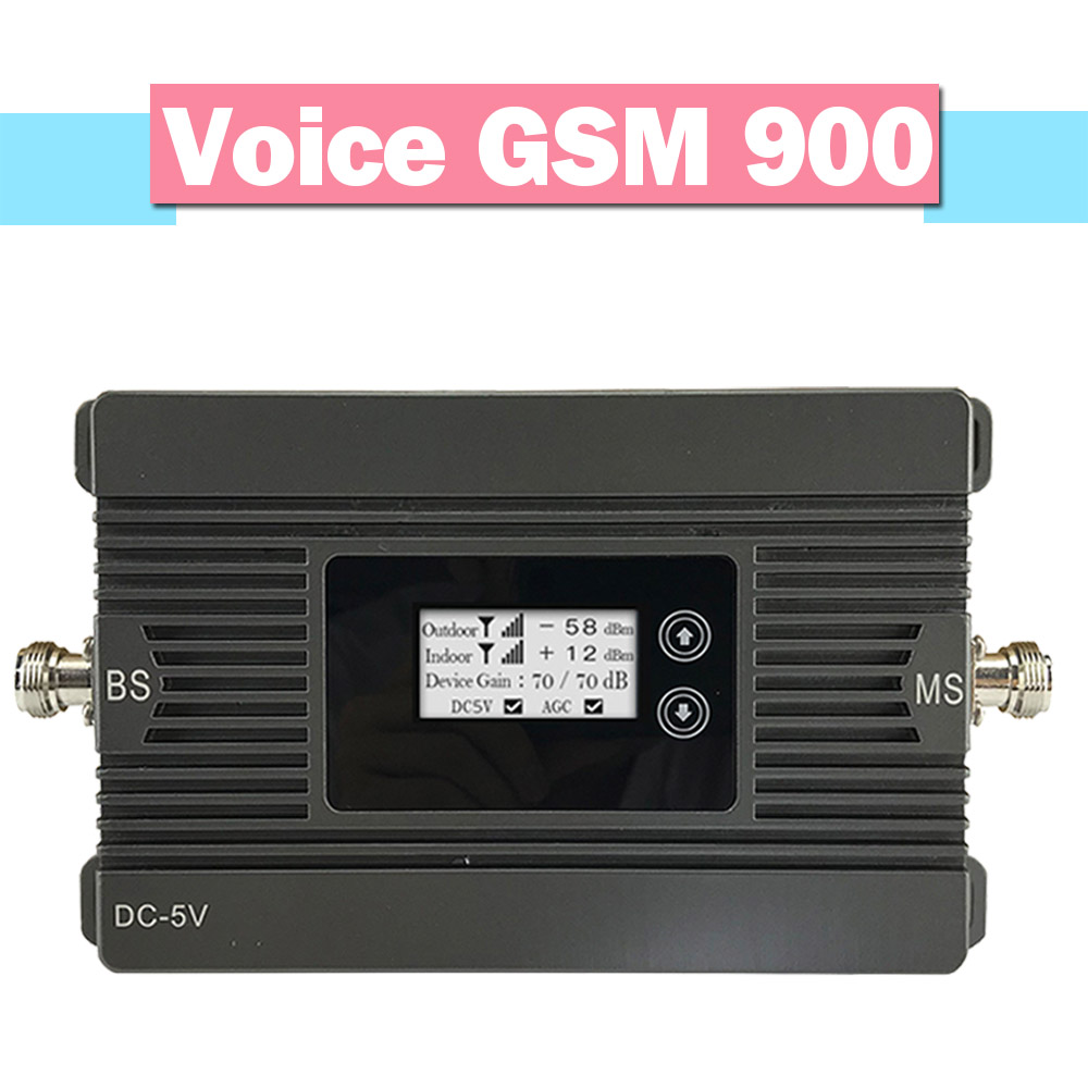 Walokcon 500sqm Smart 2G GSM 900 Signal Repeater GSM Mobile Phone Amplifier 80dB Gain LCD Display AGC Signal Booster Full Set