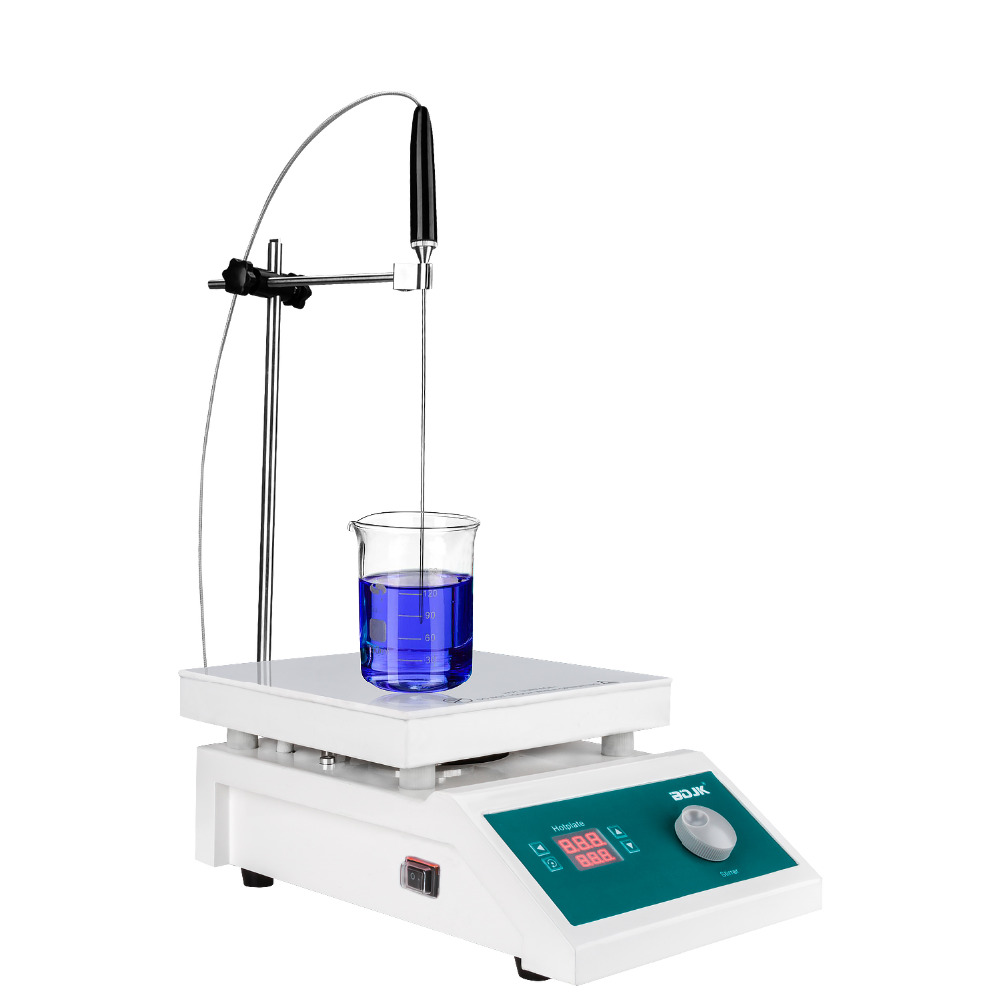 BDJKlaboratory equipment HMS-901C magnetic stirrer with heating stir bar hot plate chemistry laboratory agitador magnetic Mixer free shipping ptfe stir rod for overhead stirrer