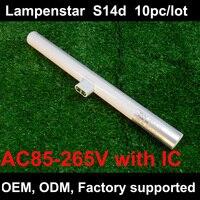 Доставка DHL 3 Вт 6 Вт 10 Вт 12 Вт LED S14 лампы s14d 85 ~ 265 В непосредственной замене OSRAM linestra 10 шт./лот