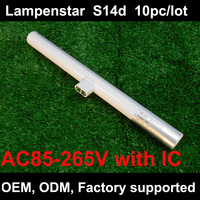 DHL доставка 3 w 6 w 10 w 12 w led s14 лампы s14d 85 ~ 265 V прямой замены светильник OSRAM 10 шт./lotlampenstar