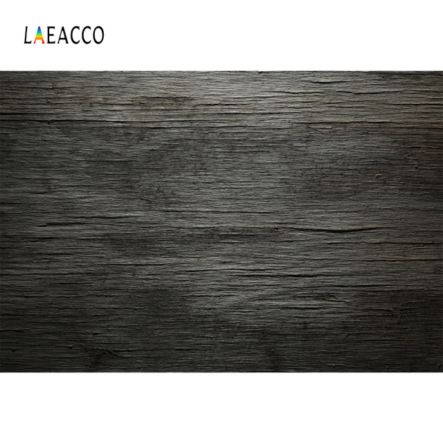Laeacco Solid Dark Wooden Board Plank Texture Grunge Photography Backgrounds Customized Photographic Backdrops For Photo Studio