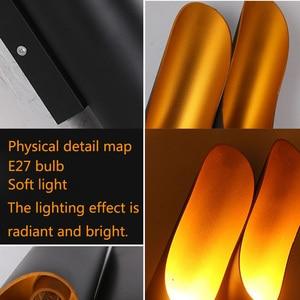 Image 5 - ヴィンテージウォールライトクリエイティブ竹形人格バー壁ランプカフェダイニングルームベッドベベル金属壁ランプ