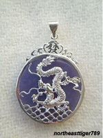 Hot koop 5 stks Lavendel 18 KWGP Dragon Fortune Hanger & Ketting