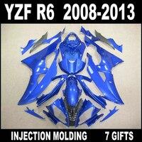 Мотоцикла для Yamaha R6 2008 2009 2013 комплект обтекателей красивые светло голубой цвет СЕРЫЙ Обтекатели YZF R6 08 09 10 11 12 13 + 7 подарки