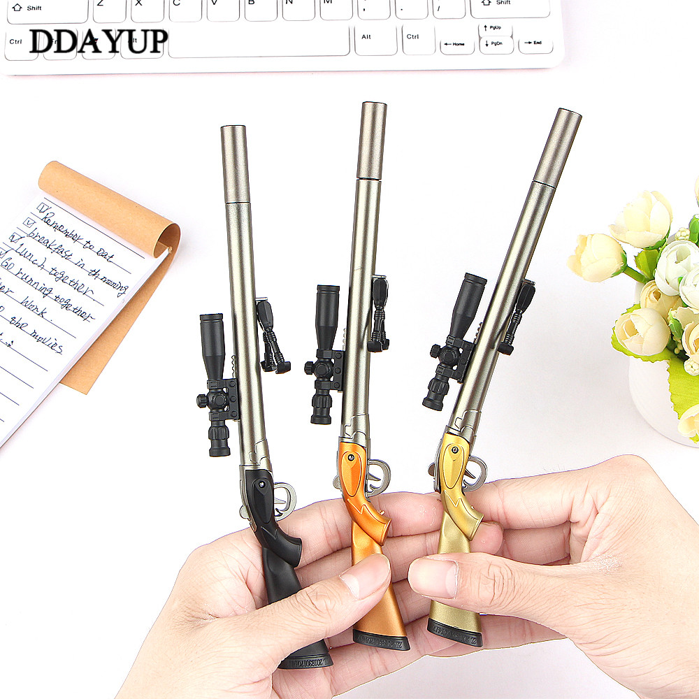 Sniper Rifle Gel Pen Creative Survival Game Gun Toy Gel Pens Neutral Pen 0.5mm For School Writing Kids Novelty Stationery Gifts