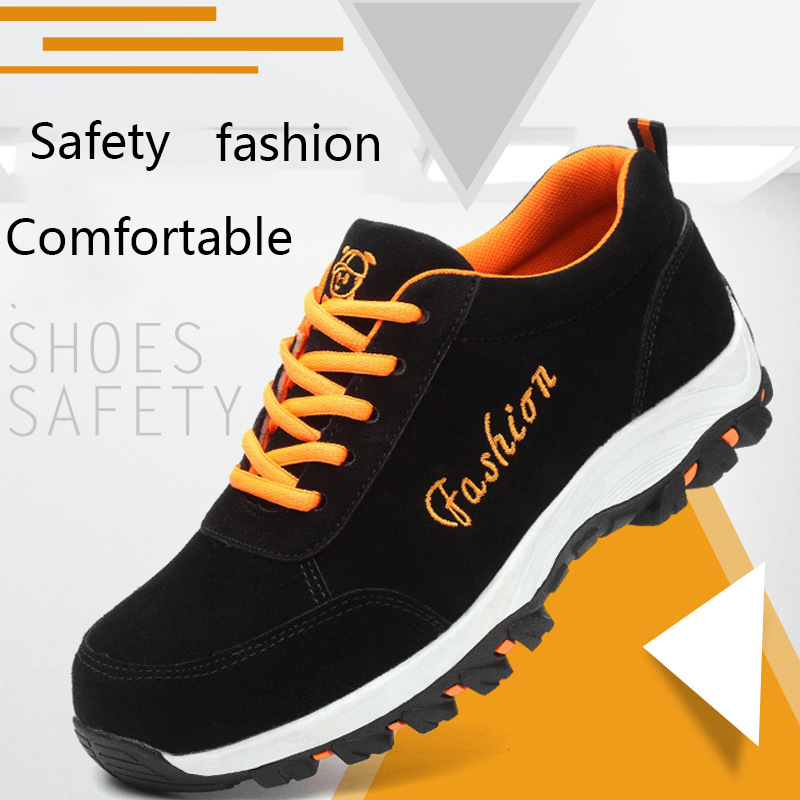 2018 Fashion Lightweight Safety Mens Steel Toe Safety Shoes Moisture-proof Anti-slip Wearable Mens Work Boots