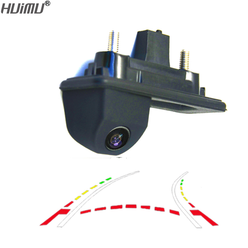 CCD 600Line Dynamic Trajectory Trunk handle Rear View Camera For Audi A1 Skoda Roomster Fabia Octavia Yeti superb backup camera