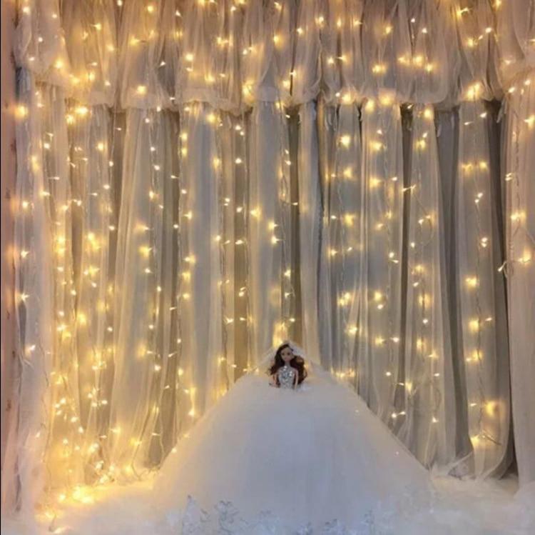 lights bedroom led waterfall string curtain flash lighting