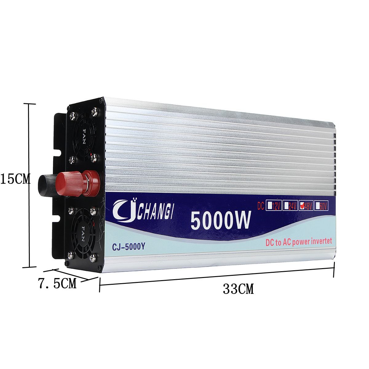 Onduleur 12 V/24 V/48 V 220V 5000W 10000W pics onduleur à onde sinusoïdale modifiée transformateur de tension convertisseur + écran LCD - 5