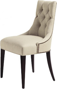 European Neo Classical Wood Dining Chair Fabric Sofa Chair After