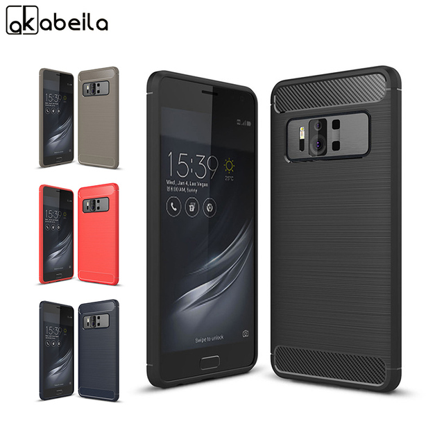 Mccollum Rugged Phone Case For Asus Zenfone Ar Zs571kl 5 7 Cases Armor Carbon Fiber Soft