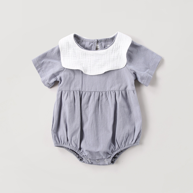 Baby Girls Clothing baby girl onesie cotton newborn girl ruffle romper with bibs summer jumpsuit boutique infant clothing