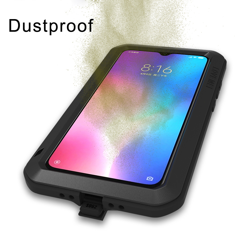 Image 3 - Gorilla glass film gift)Waterproof Heavy Duty Protective Case For Xiaomi Mi 9 Case Shockproof Metal Armor Cover Xiaomi Mi9 Case-in Fitted Cases from Cellphones & Telecommunications