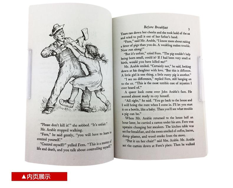 New Hot Charlotte's Web inglês livro de Ficção para crianças adulto