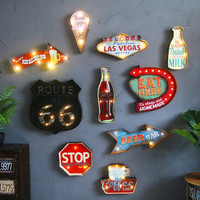 Vintage Las Vegas LED Light Neon Signs for Bar Pub Home Restaurant Cafe Illumination Sign Wall Hanging Decoration LED Signs N052