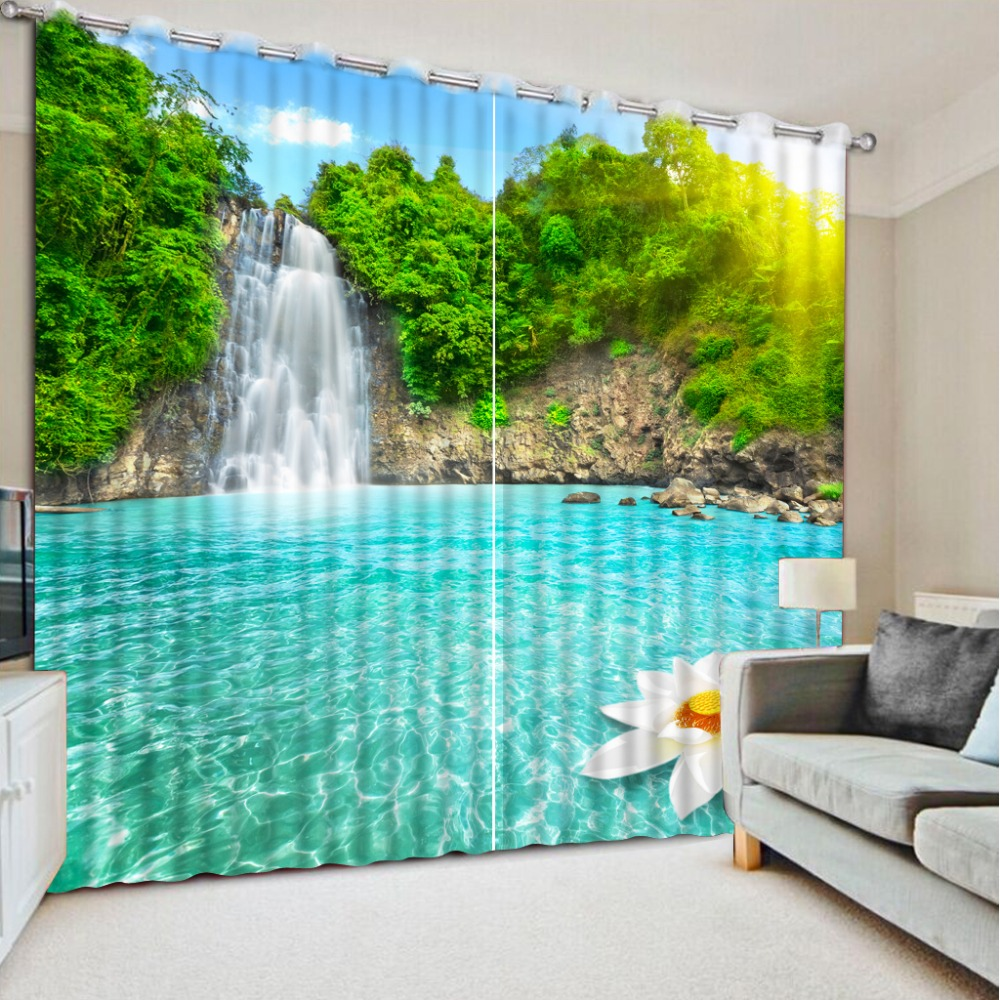 nature scenery curtains Window Blackout Luxury 3D Curtains set For Bed room Living room Office Hotel Home Wall Decorative