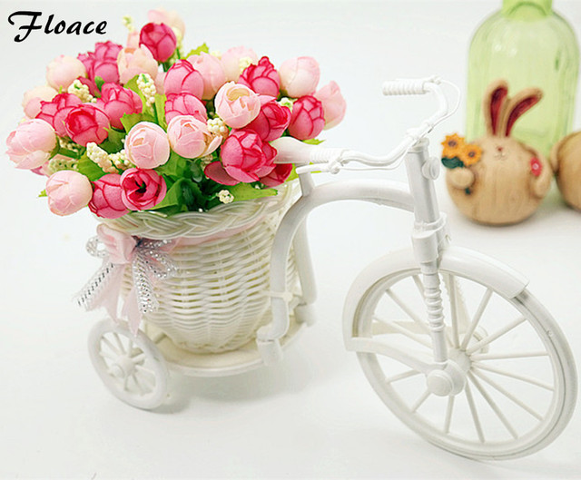 Floace quality rattan  vase + flowers meters orchid artificial flower set home decoration FL13008