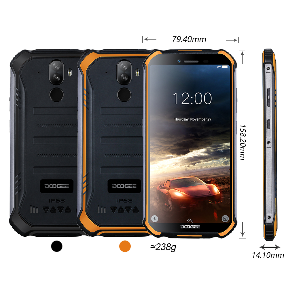 DOOGEE S40 4GNetwork Téléphone Portable Robuste 5.5 pouces 4650mAh MT6739 Quad Core 3 GO RAM 32 GO ROM Android 9.0 8.0MP IP68/IP69K - 6