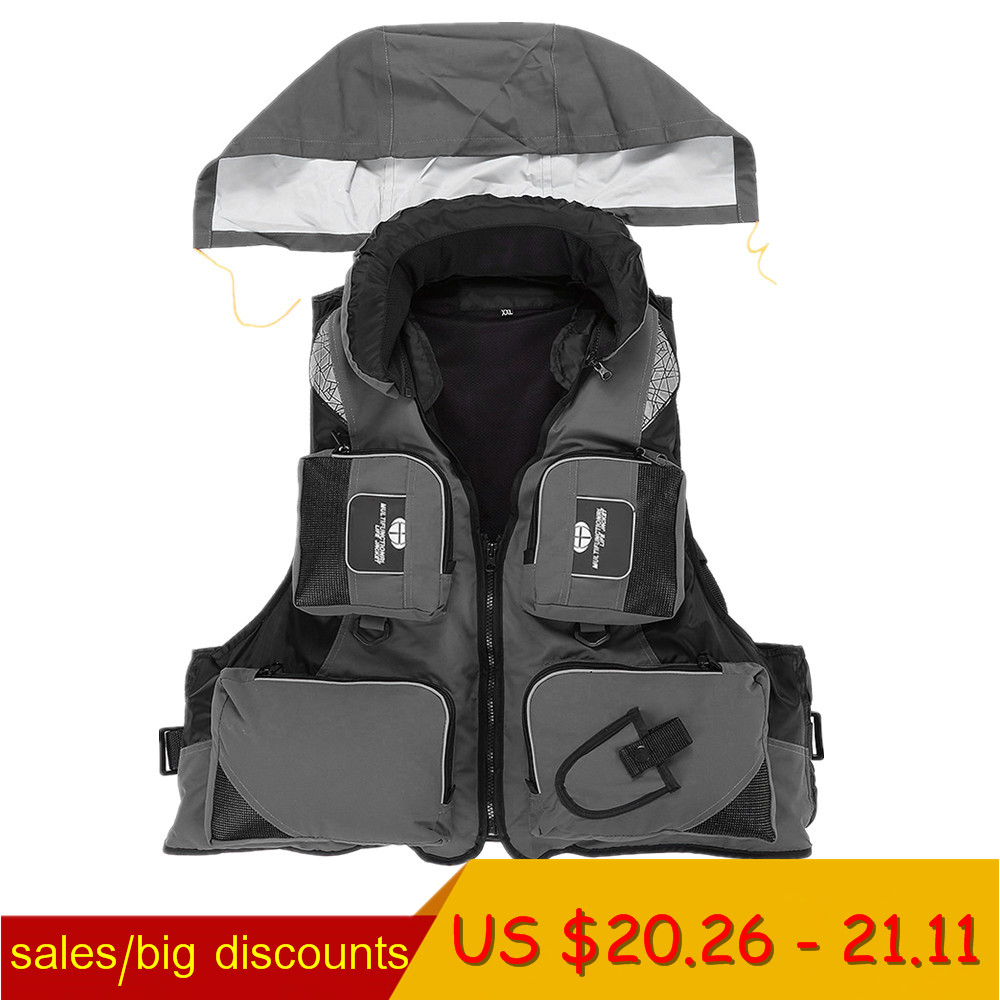 a5f424f674385 L-XXL Men Women Fishing Life Vest Outdoor Water Sports Safety Life Jacket  For Boat