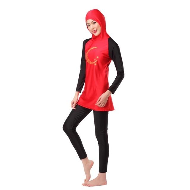 5df5bc4da67a1 Women Swimsuit Modest Islamic Jewish Hindu Full Cover Swimwear Arab  Beachwear