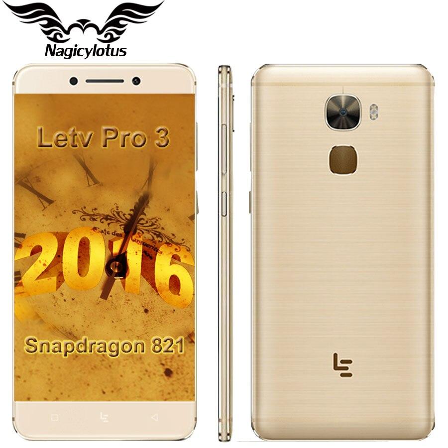 Цена за На складе letv le 3 pro leeco le pro 3 snapdragon 821 Quad Core 5.5 inch 4 Г/6 Г RAM 32 Г/64 Г ROM 4070 мАч NFC 4 Г LTE Mobile телефон