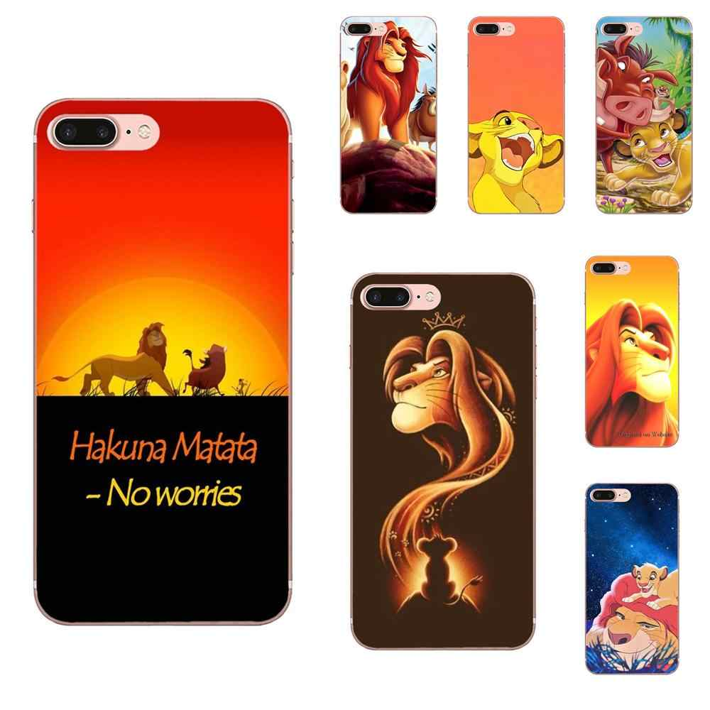 Cartoon Movie Lion King And Simba For Sony Xperia Z Z1 Z2 Z3 Z4 Z5 compact Mini M2 M4 M5 T3 E3 E5 XA XA1 XZ Premium
