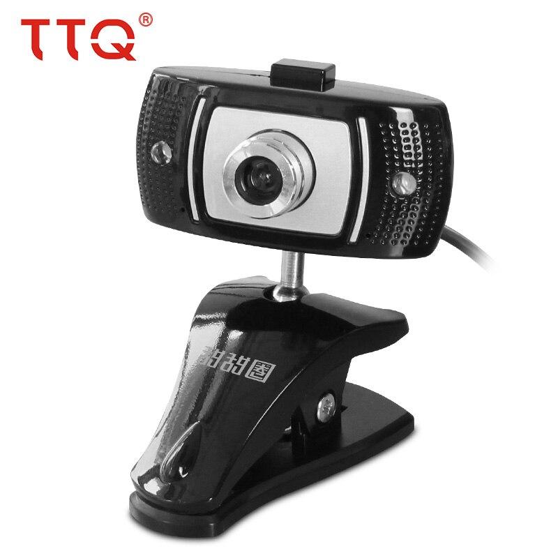 TTQ Webcam USB 720 P HD ordinateur de bureau Webcam avec Microphone Vision nocturne Smart TV pour Skype ordinateur portable ordinateur portable Web Cam