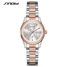 цена на SINOBI Famous Brand Women Quartz Watch Ladies Steel Fashion Business Wrist Watches Female Gold Wristwatches Relojes Mujer Clocks