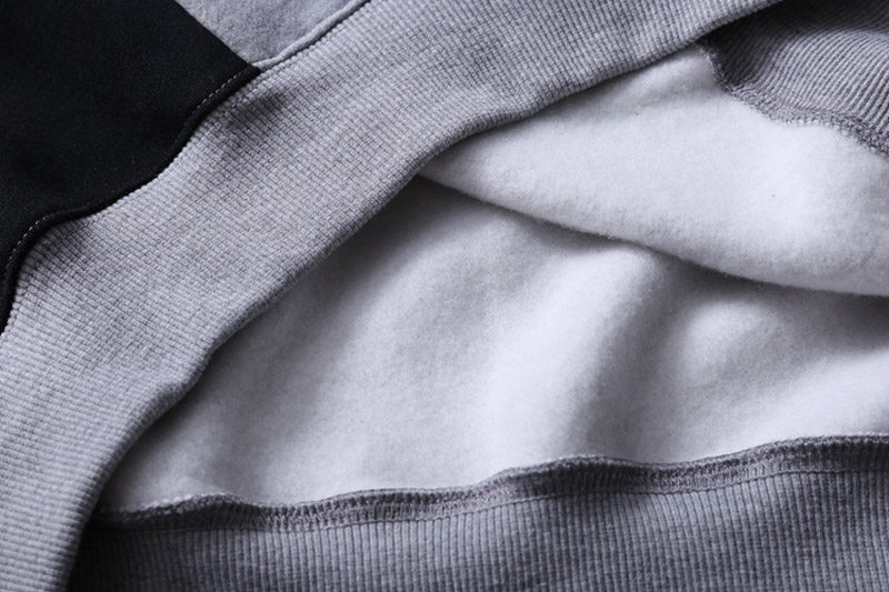 Color Block Patchwork Fleece Hoodies 10