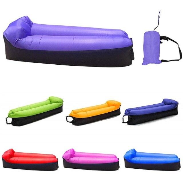 קמפינג שק שינה עמיד למים מתנפח תיק עצלן ספה קמפינג שקי שינה אוויר מיטה למבוגרים חוף טרקלין כיסא מהיר מתקפל
