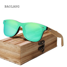 2019 Fashion Bamboo Sunglasses Men Wooden Sun glasses Brand