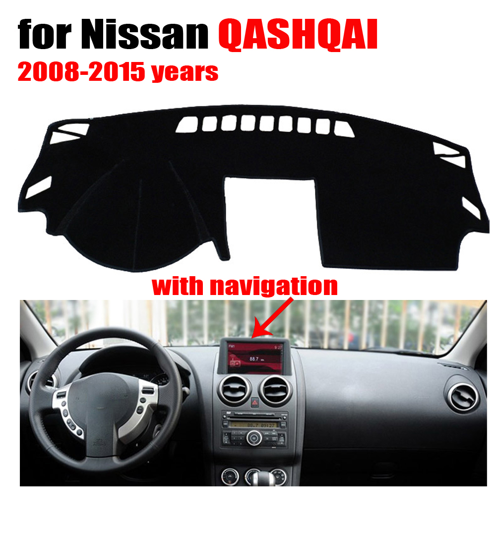 Floor mats qashqai - Car Dashboard Cover Mat For Nissan Qashqai With Navigation 2008 2015 Left Hand Drive Dashmat