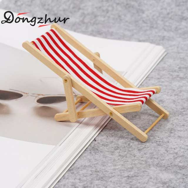 Fantastic Us 2 54 47 Off Dongzhur New Mini Beach Chair Red Blue White Striped 1 12 Dollhouse Wooden Doll House Practical Cute Outdoor Loungers Wwp3911 In Caraccident5 Cool Chair Designs And Ideas Caraccident5Info
