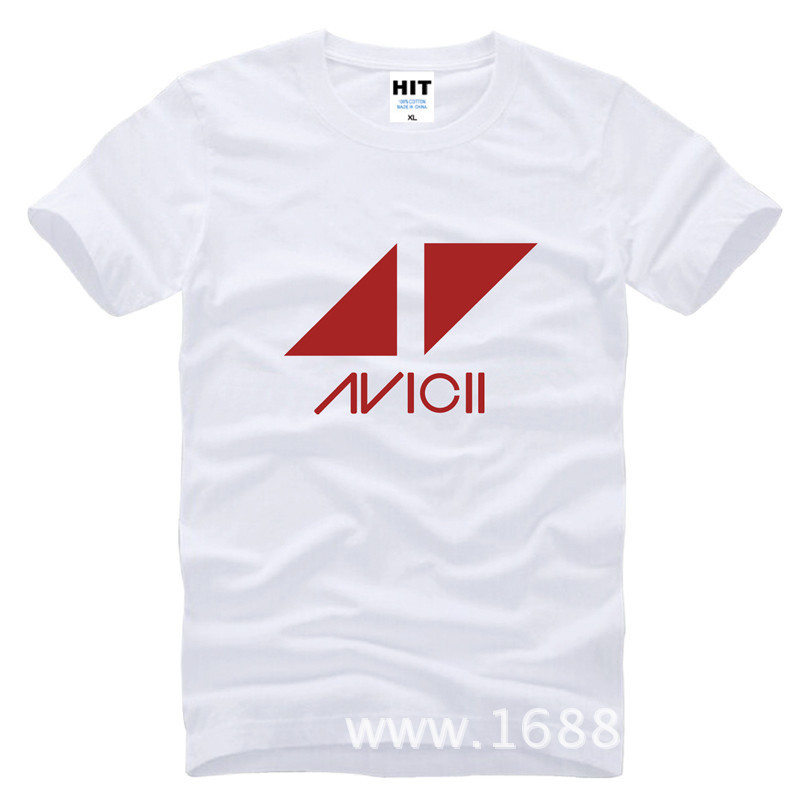 Rock Band Avicii Tim Bergling DJ Loose Mens Men T Shirt Tshirt Fashion 2015 New Short Sleeve Cotton T-shirt Tee Camisetas Hombre